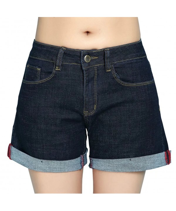 Betusline Womens Summer Waist Shorts